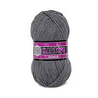 Турецкая  пряжа для вязания KARTOPU GONCA ( ГОНКА)  акрил  1002 темно-серый меланж