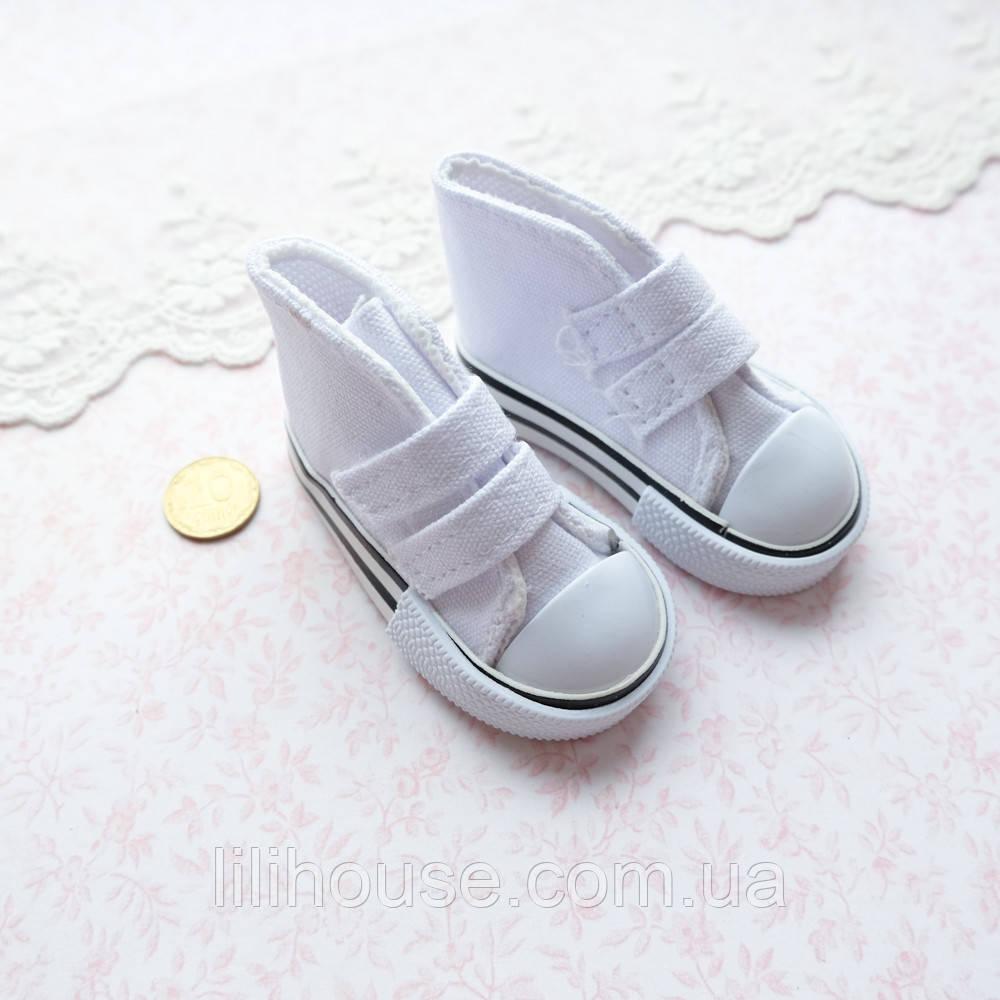 Обувь для кукол, кеды на липучках белые - 7*3 см
