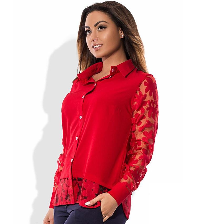 Блуза красная размеры от XL 3044