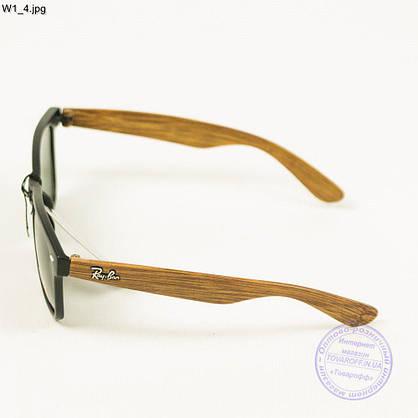 Солнцезащитные очки Ray-Ban Wayfarer унисекс со стеклянной линзой - W1, фото 2