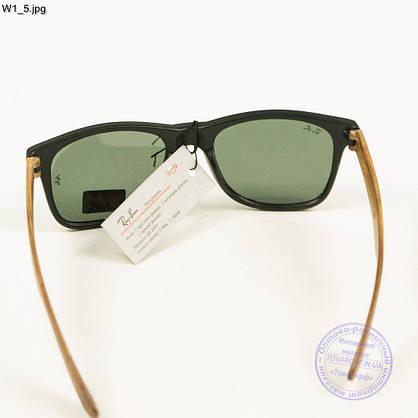 Солнцезащитные очки Ray-Ban Wayfarer унисекс со стеклянной линзой - W1, фото 3