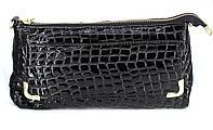 Женская лакированная сумка клатч из натуральной кожи