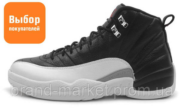 Мужские кроссовки Nike Air Jordan 12 Retro Black White (найк аир жордан 12  ретро) b786e3b8843