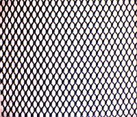 Сетка декоративная алюминиевая крашенная чёрная.