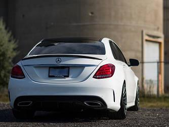 Спойлер сабля на багажник тюнинг Mercedes W213 стиль Amg Line (стекловолокно)