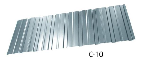 Профнастил оцинкованный С-10 стеновой 0.4 мм