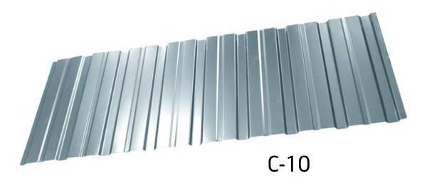 Профнастил оцинкованный С-10 стеновой 0.4 мм, фото 2