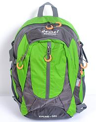 Городской спортивный рюкзак в стиле Deuter Mountain G25 зеленый  (46х27х18 см. V-35л.)