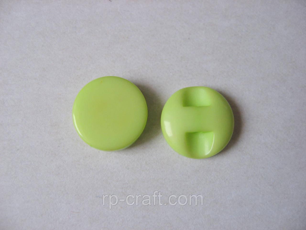 Пуговица пластиковая, декоративная, круглая, на ножке, 13 мм