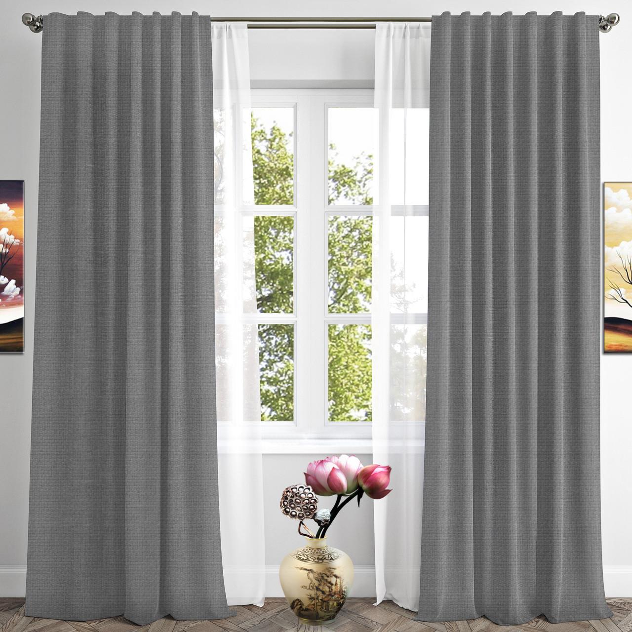 Готовые шторы RIGI-26 цвет серый