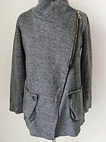 Кардиган-пальто весна-осень, из мягкой, приятной к телу ткани, большие карманы, на змейке р.48, код 1339М
