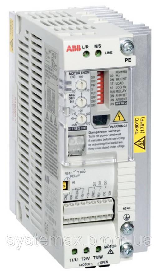 Преобразователь частоты ABB ACS55-01E-02A2-2 (0,37 кВт, 220 В)