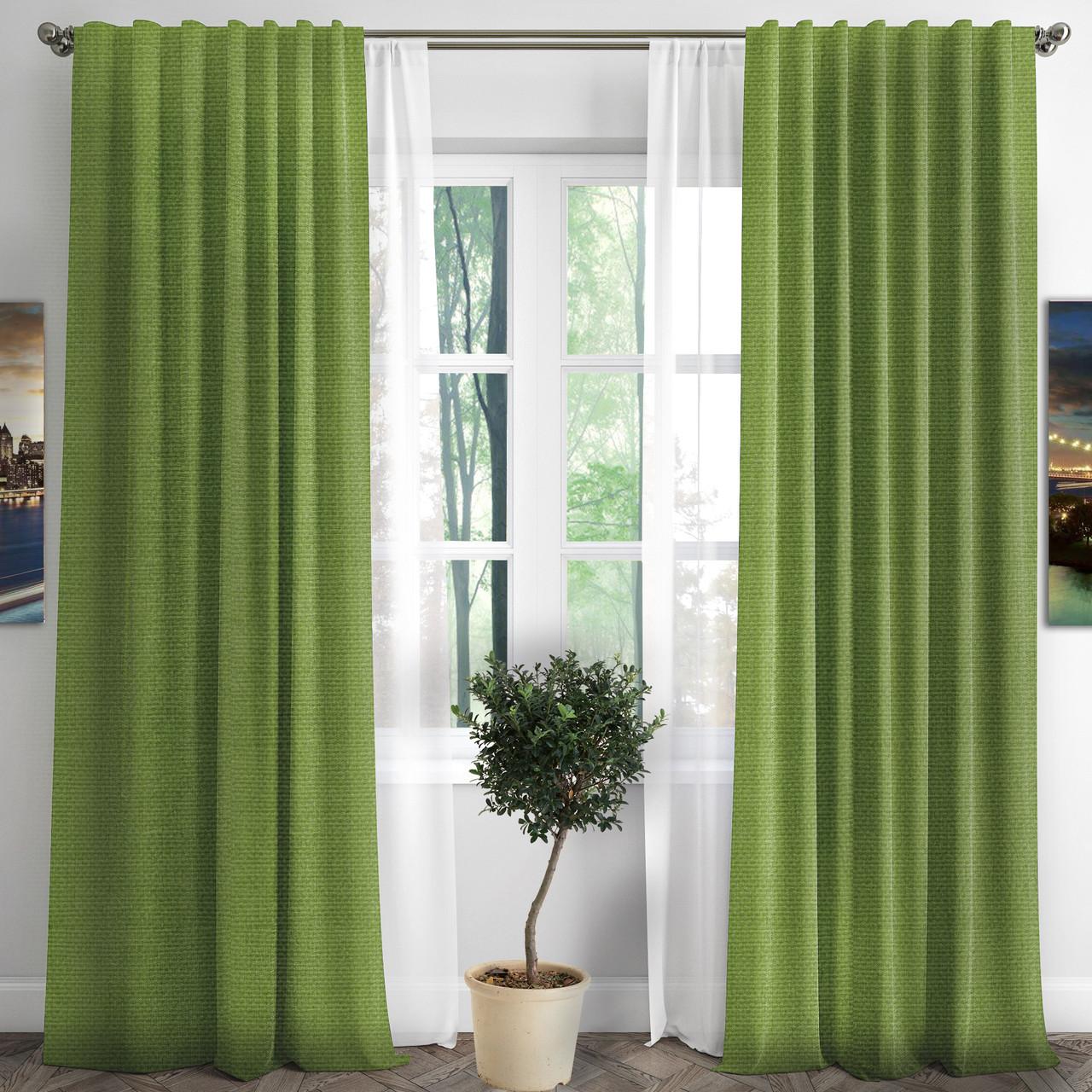 Готовые шторы RIGI-30 цвет зеленое яблоко
