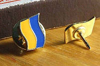 Значок флаг прапор України 08х12мм