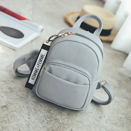 Рюкзак женский Bobby серый eps-8007, фото 2