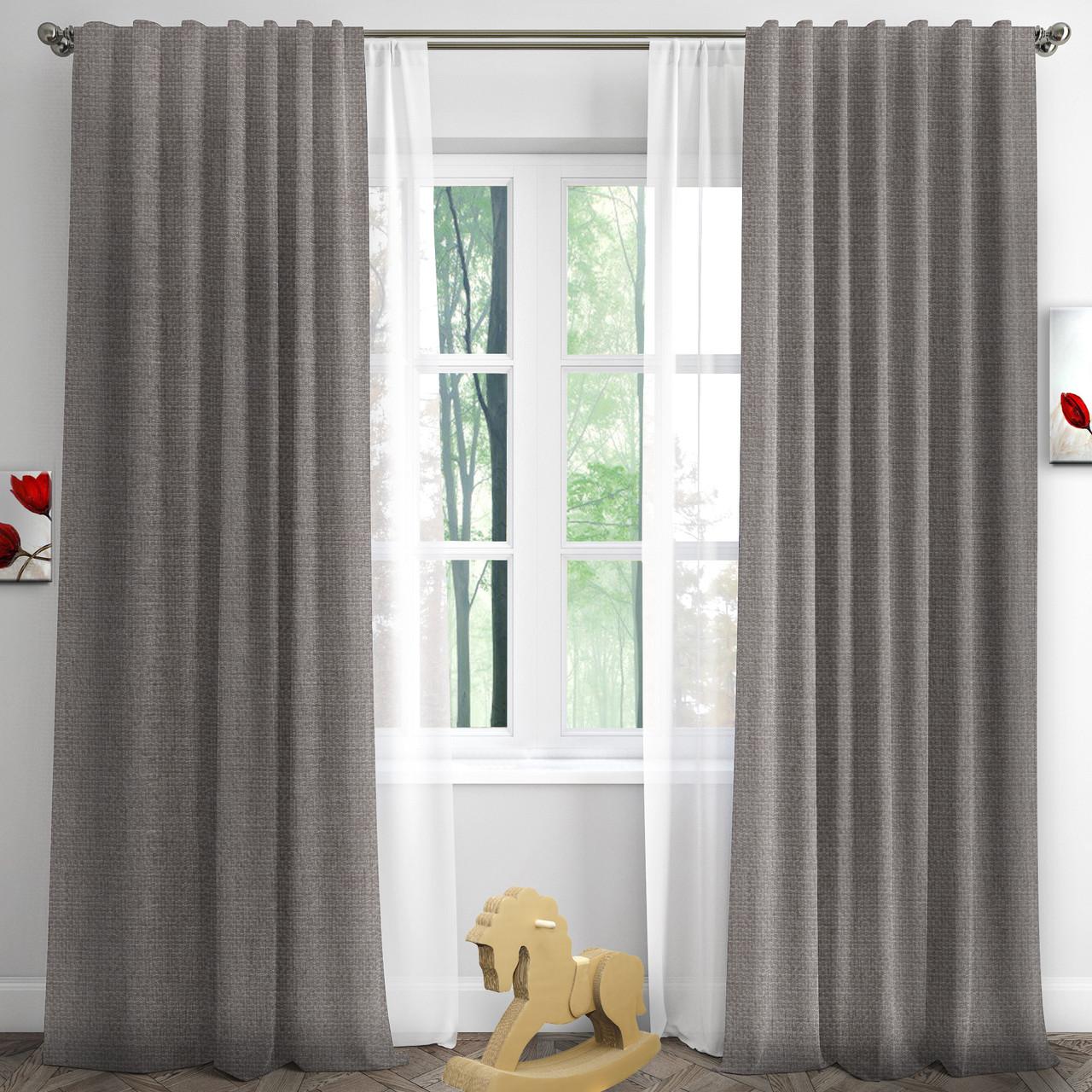Готовые шторы RIGI-36 цвет коричнево-серый