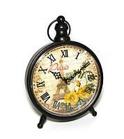 Часы настольные винтаж Paris с цветами