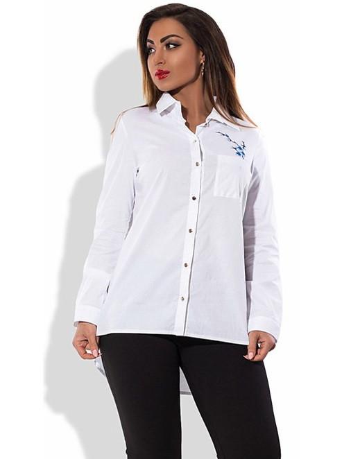 Рубашка-фрак белая размеры от XL 3046