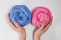 Набор толстой пряжи Maxi, цвет Беби 105 грамм +цвет Сентябрь 150 грамм
