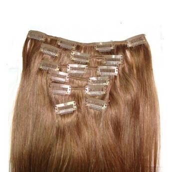 Набір натуральних волосся на кліпсах 60 см відтінок №6 160 грам