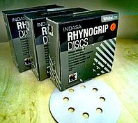 Абразивный диск INDASA RhynoGrip White Line -P100, D125, 8 отверстий.