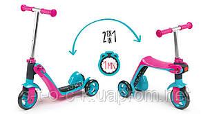 Новинка! Самокат-каталка 2 в 1 SMOBY TOYS для детей от 18 до 36 месяцев. Код 750603