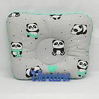 """Подушка для новорожденных """"Панда"""", бирюза"""
