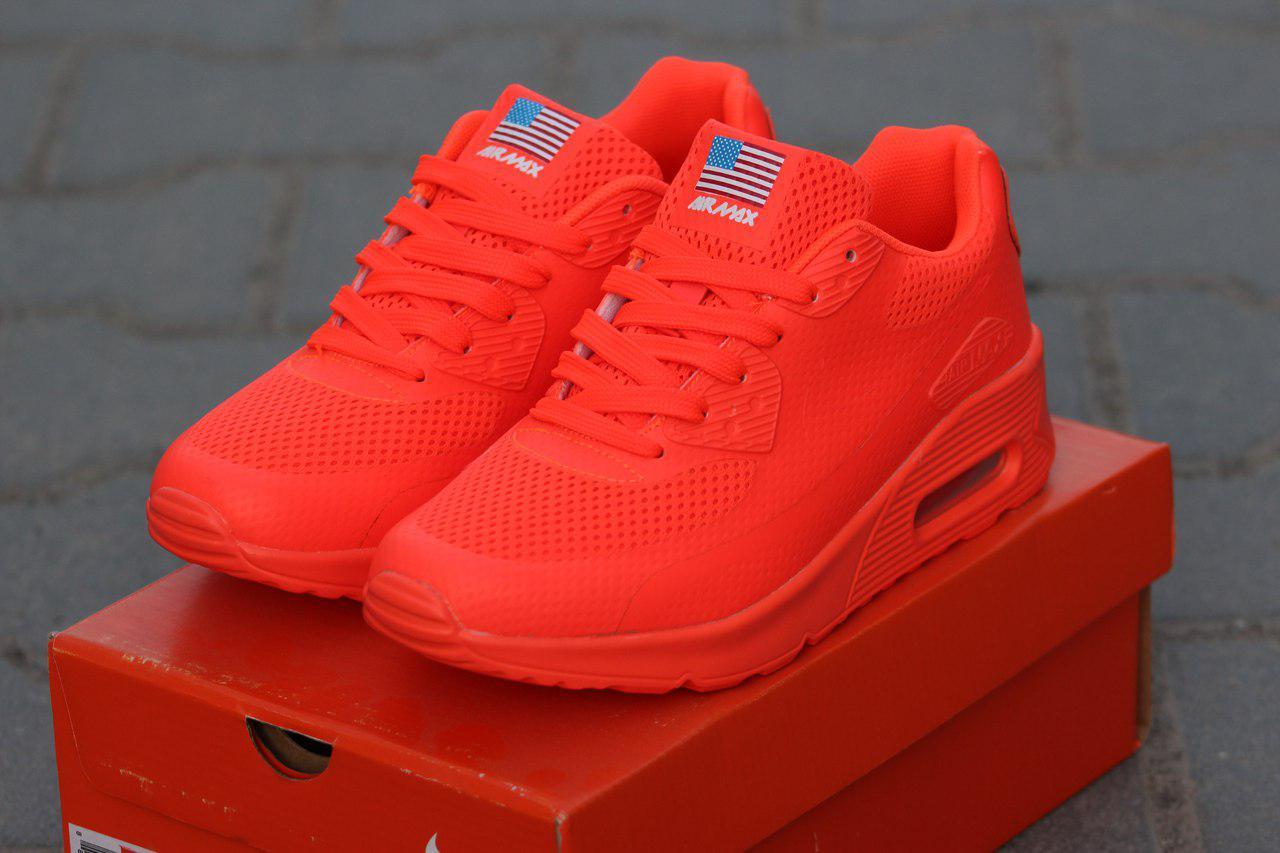 Кроссовки женские Nike Air Max Hyperfuse легкие удобные спортивные (оранжевые), ТОП-реплика