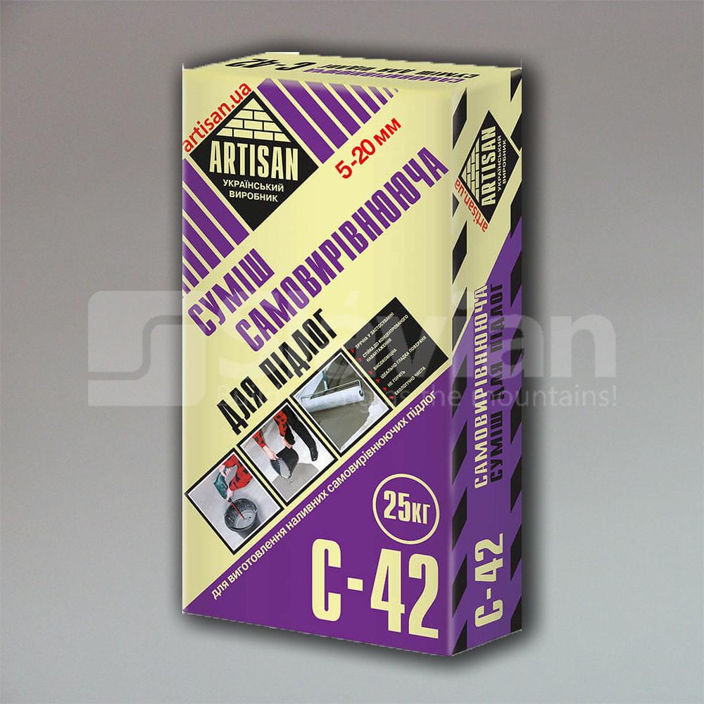 Самовирівнююча суміш для підлоги Artisan С-42, 25кг