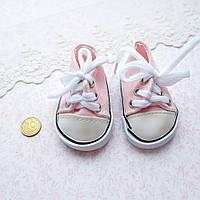 Обувь для Кукол Кеды на Шнуровке 7*3.5 см НЕЖНО-РОЗОВЫЕ