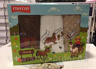 "Набор вафельных кухонных полотенец  Mercan ""Horse"" Турция"