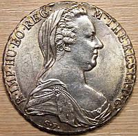 Серебряная монета Австрии 1 талер 1780 г. Мария Терезия