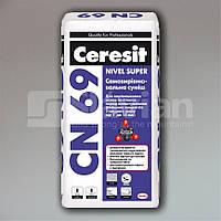 Самовыравнивающаяся смесь Ceresit CN 69, 25кг, фото 1