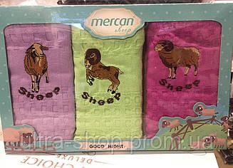 "Набор вафельных кухонных полотенец  Mercan ""Sheep"" Турция"