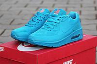 Женские кроссовки Nike Air Max Hyperfuse летние легкие стильные молодежные (голубые), ТОП-реплика, фото 1