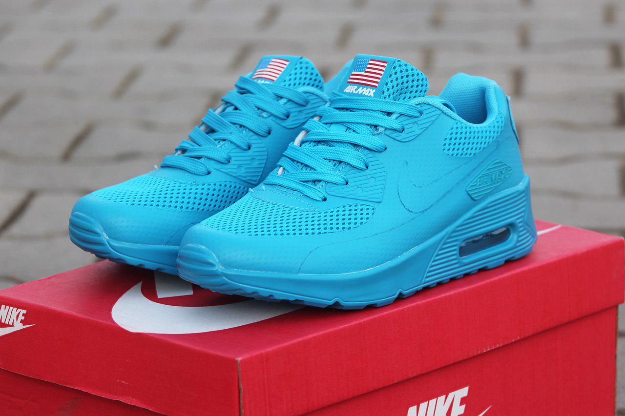 Женские кроссовки Nike Air Max Hyperfuse летние легкие стильные молодежные (голубые), ТОП-реплика