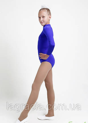 Детский гимнастический купальник с длинным рукавом, фото 2