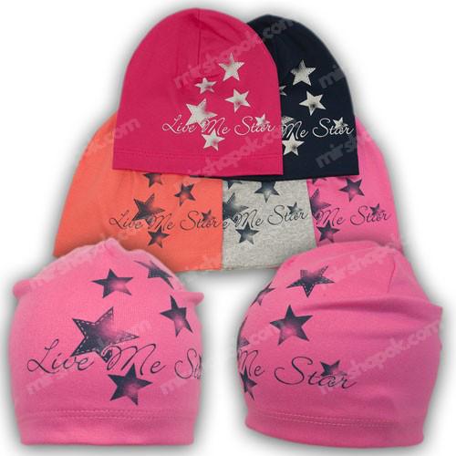 шапочки для девочек из трикотажа