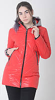Куртка женская весенняя м-158 красный