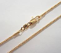 Цепочка плетение Веревочка длина 45 см H-1.5 мм позолота 18К