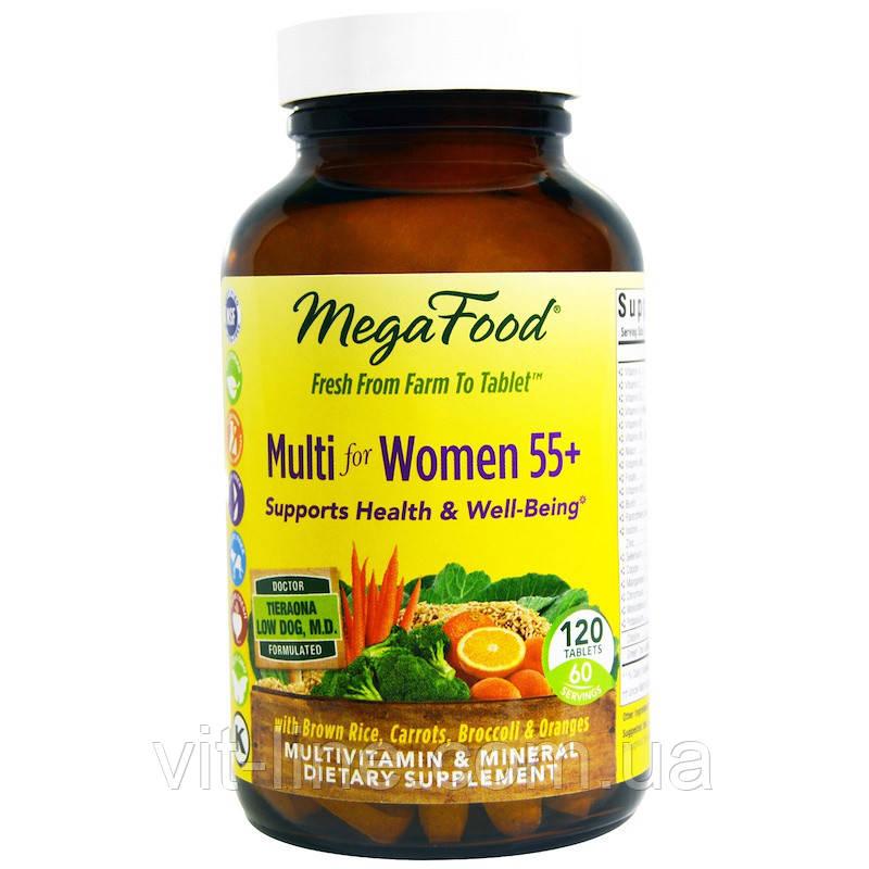 MegaFood, Мультивитамин для женщин от 55 лет, 120 таблеток