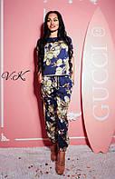 Модный женский шелковый костюм в стиле  Dolce&Gabbana