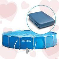 Intex 10314 Чаша для каркасного бассейна 549-122 см с фиксирующим шнуром.