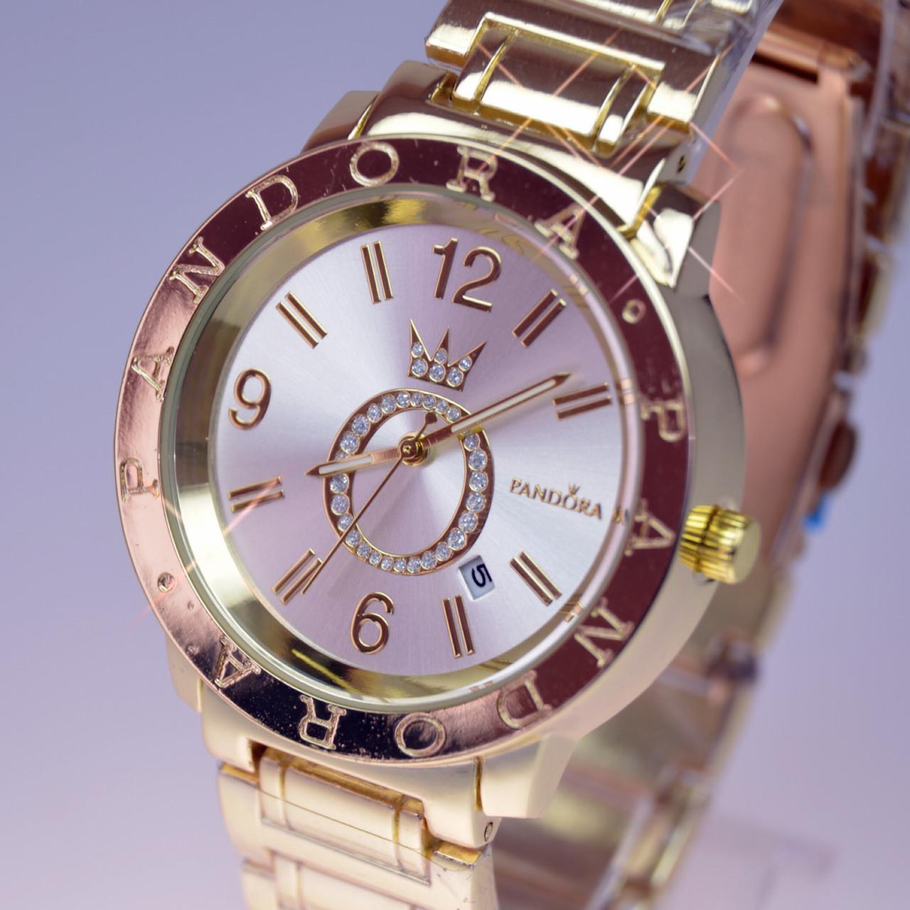 Женские наручные часы PANDORA (Пандора) Gold B39