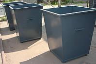 Мусорный контейнер 1100л металлический(эмаль)