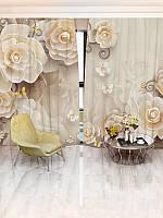 Фотошторы цветы 142х270 2шт(32973_1_1)