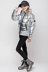 Блестящая весенняя куртка на подростка размер 134, 140, 146, 152, 158, 164  дешево