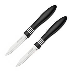 Набор ножей для овощей Tramontina Cor&Cor 76мм. 2шт чёрные