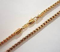 Цепочка плетение Венецианское длина 45 см H-3.5 мм позолота 18К
