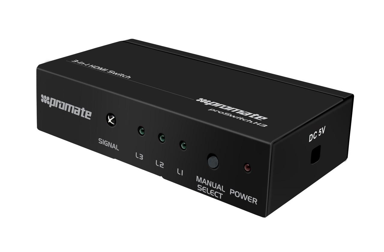 HDMI cплиттер Promate Proswitch-H3 Black